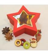 400 gr Kerst stermet Fairtrade kerstchocolade