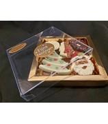Kerst Chocolade gold Bbox met UTZ Fairtrade Kerst chocola Assortiment 135 gram