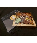 Paasbox met 150 gr Paaschocolade figuurtjes